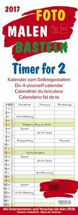 Kalender »Foto-Malen-Basteln Timer for 2 2017«