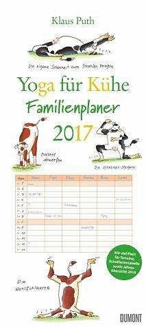 Kalender »Yoga für Kühe Familienkalender 2017«