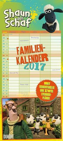 Kalender »Shaun das Schaf Familienkalender 2017«
