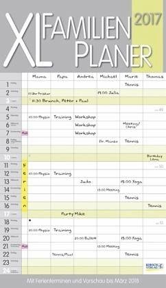 Kalender »XL Familienplaner pastell 2017«