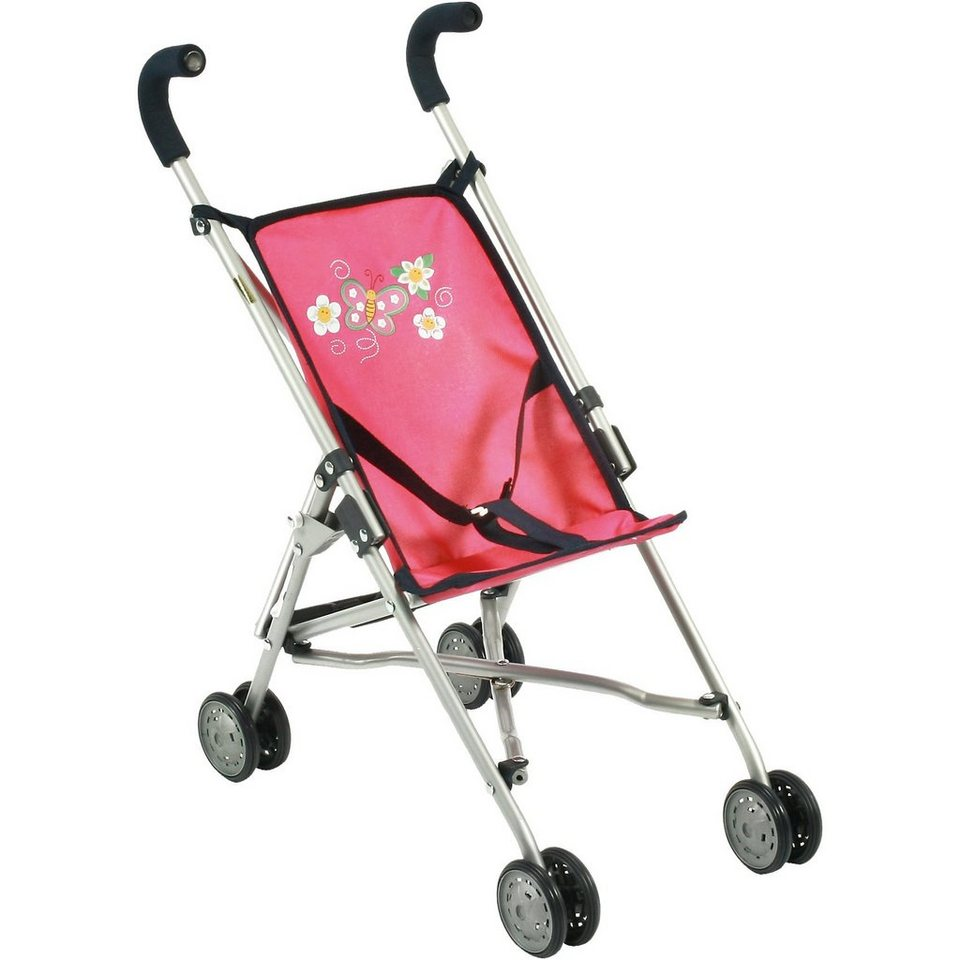 CHIC 2000 Mini Puppen-Buggy Roma, Dots Koralle