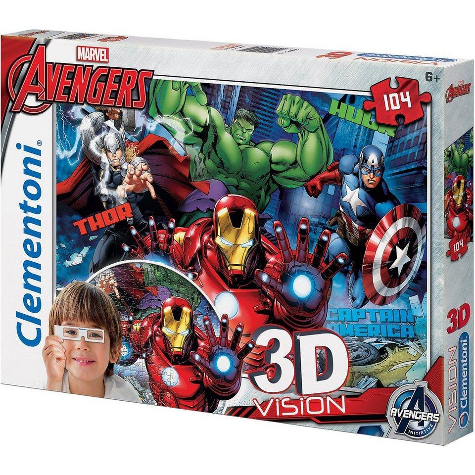 Clementoni 3D Puzzle 104 Teile - Avengers