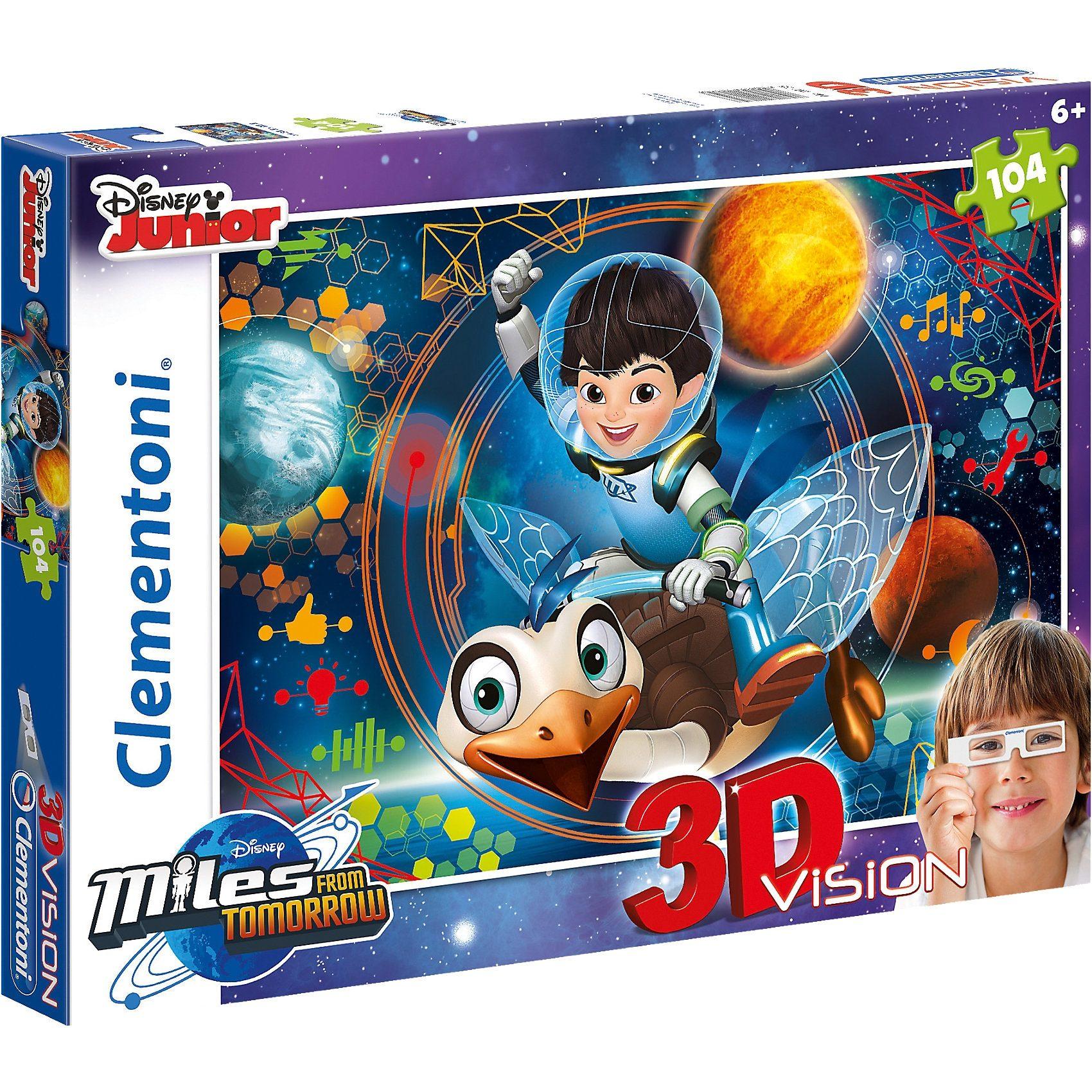 Clementoni 3D Vision Puzzle 104 Teile - Miles von Morgen
