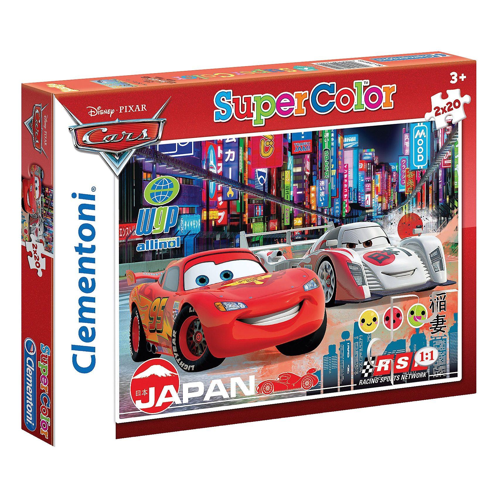 Clementoni Puzzleset 2 x 20 Teile - Cars