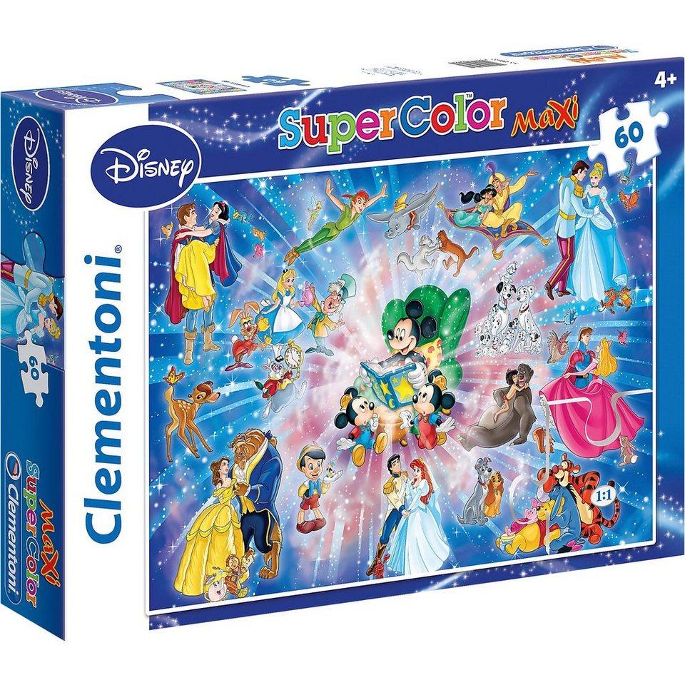 Clementoni Maxi Puzzle 60 Teile - Disney Familiy