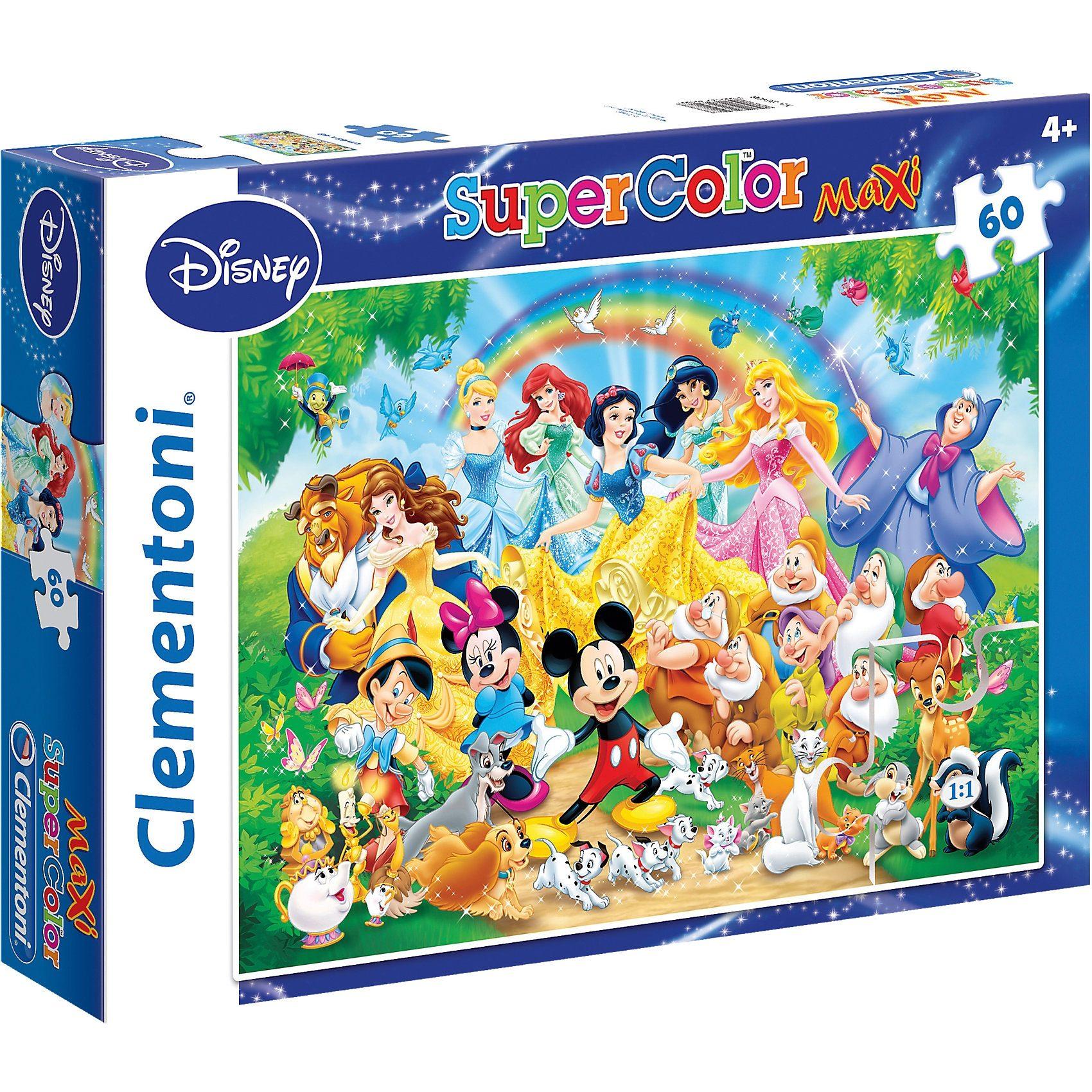 Clementoni Maxi Puzzle 60 Teile - Disney Classic