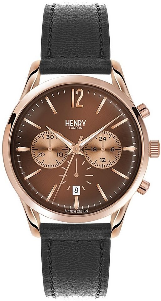 Henry London Chronograph, »Harrow, HL39-CS-0054« in schwarz