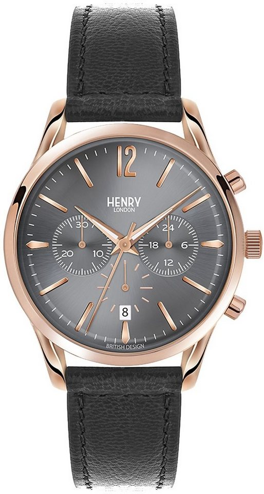 Henry London Chronograph, »Finchley, HL39-CS-0122« in schwarz