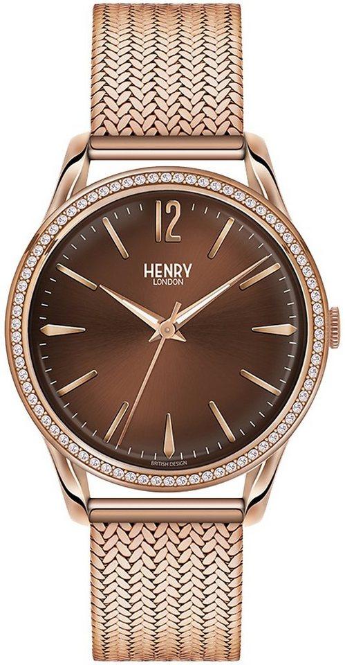 Henry London Quarzuhr »Harrow, HL39-SM-0124« in roségoldfarben