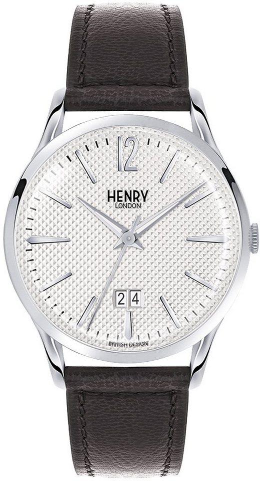 Henry London Armbanduhr, »Edgware, HL41-JS-0021« in schwarz