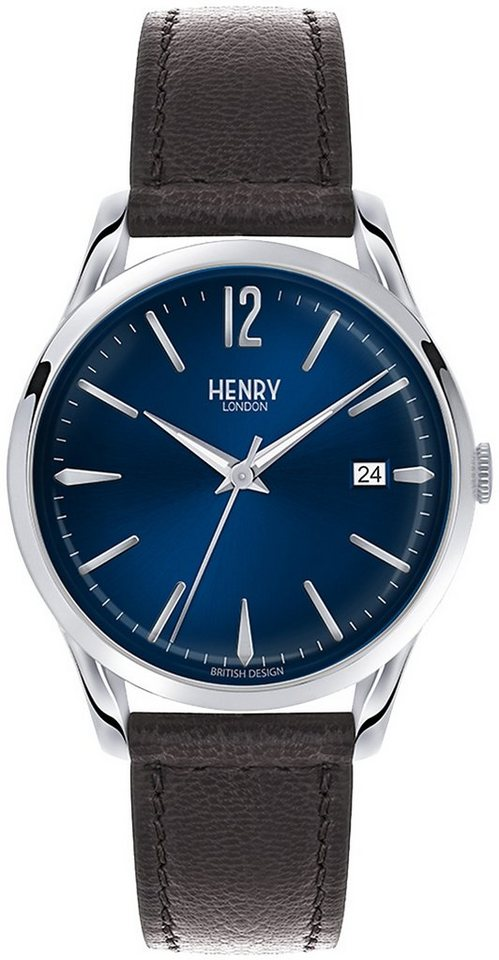 Henry London Armbanduhr, »Knightsbridge, HL39-S-0031« in schwarz