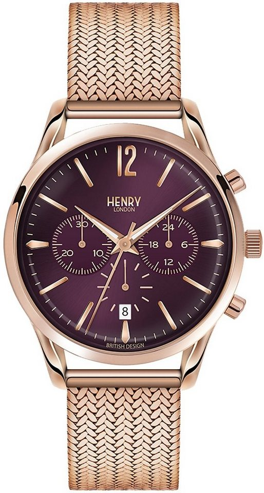 Henry London Chronograph, »Hampstead, HL39-CM-0088« in roségoldfarben