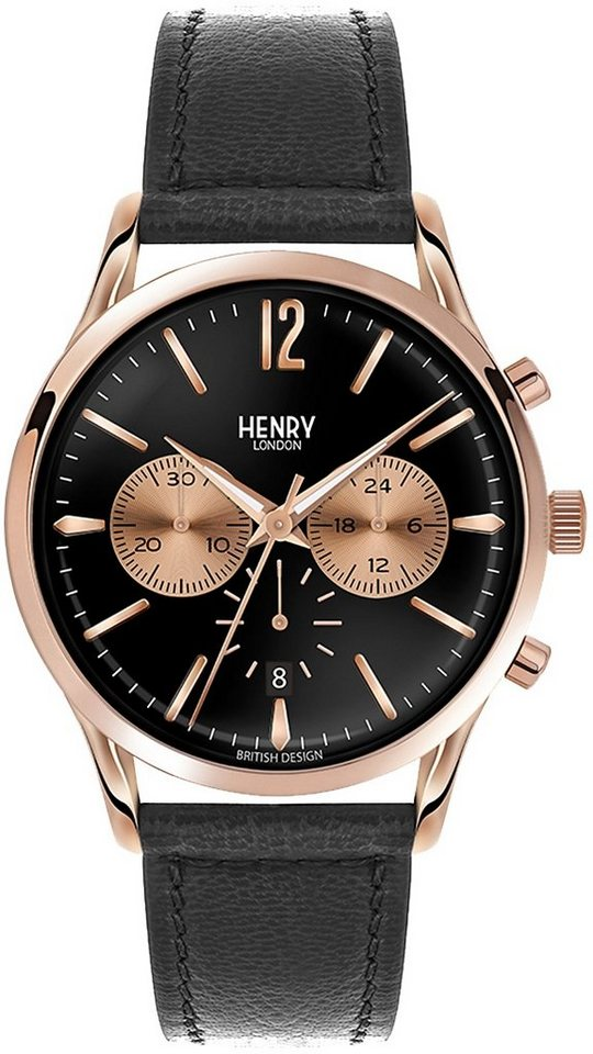 Henry London Chronograph, »Richmond, HL41-CS-0042« in schwarz