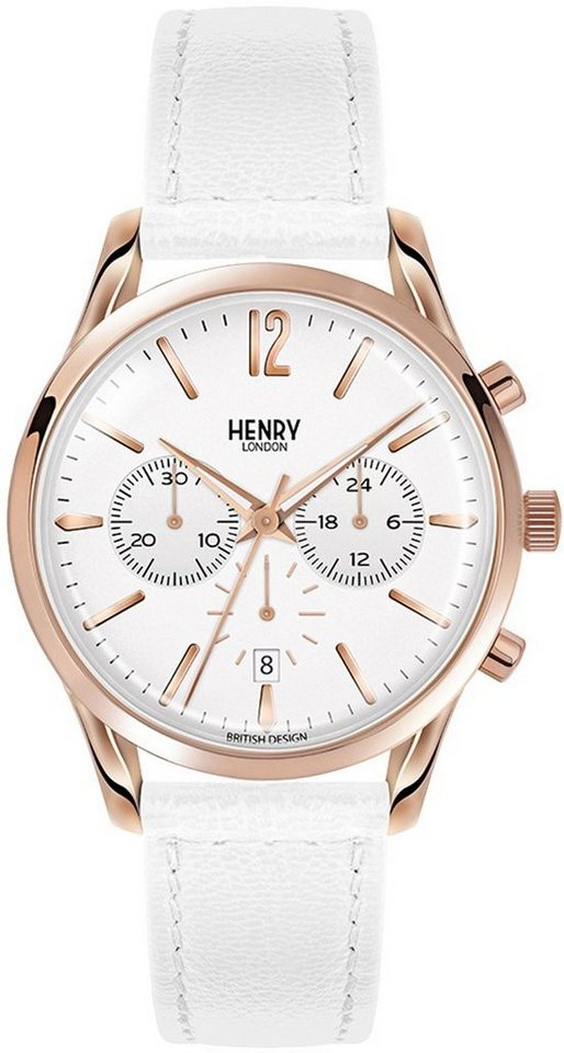 Henry London Chronograph »Pimlico, HL39-CS-0126« in weiß