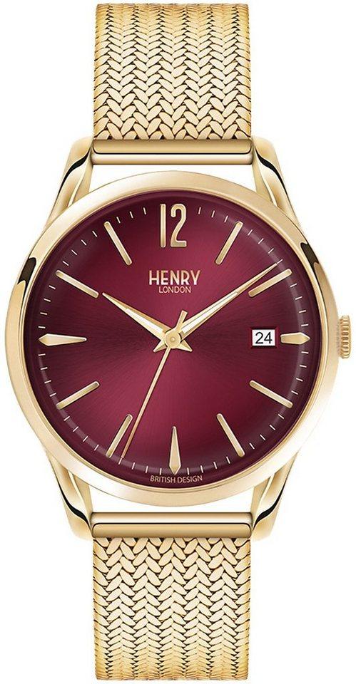 Henry London Quarzuhr »Holborn, HL39-M-0062« in roségoldfarben