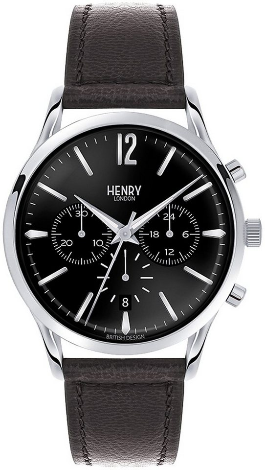 Henry London Chronograph, »Edgware, HL41-CS-0023« in schwarz