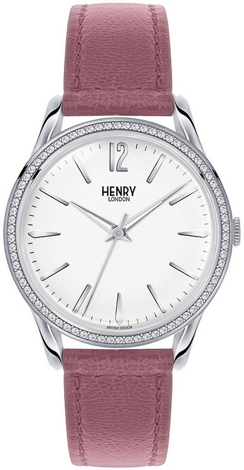 Henry London Quarzuhr »Hammersmith, HL39-SS-0063« in altrosa