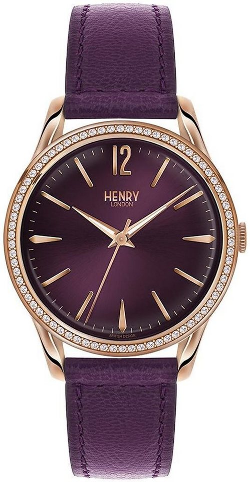 Henry London Quarzuhr »Hampstead, HL39-SS-0084« in lila