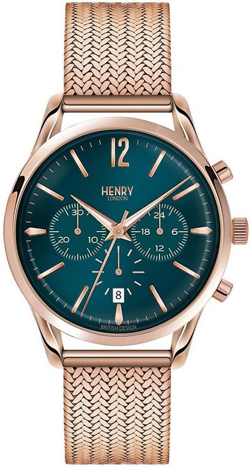 Henry London Chronograph »Stratford, HL39-CM-0142« in roségoldfarben
