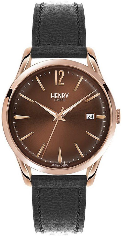 Henry London Armbanduhr, »Harrow, HL39-S-0048« in schwarz