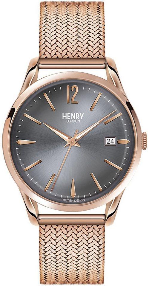 Henry London Armbanduhr, »Finchley, HL39-M-0118« in roségoldfarben