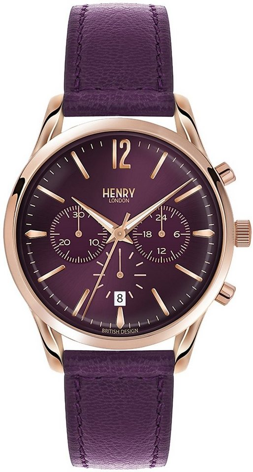 Henry London Chronograph, »Hampstead, HL39-CS-0092« in lilafarben