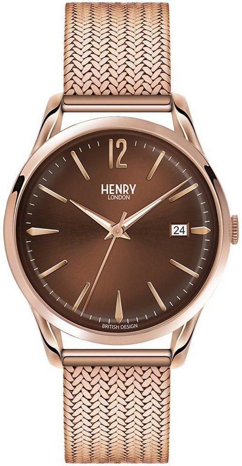 Henry London Armbanduhr, »Harrow, HL39-M-0050« in roségoldfarben