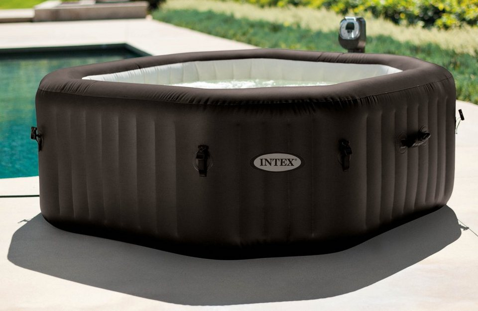 Intex Whirlpool-Set, »PureSpa Jet Massage Octagon« in dunkelbraun-beige