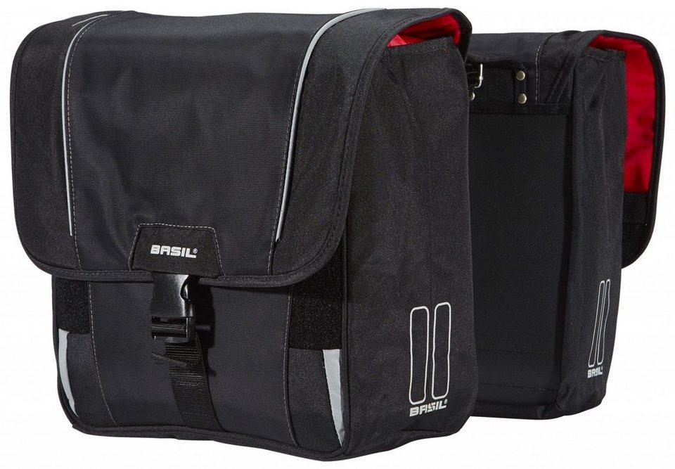 Basil Gepäckträgertasche »Sport Design Doppeltasche schwarz«