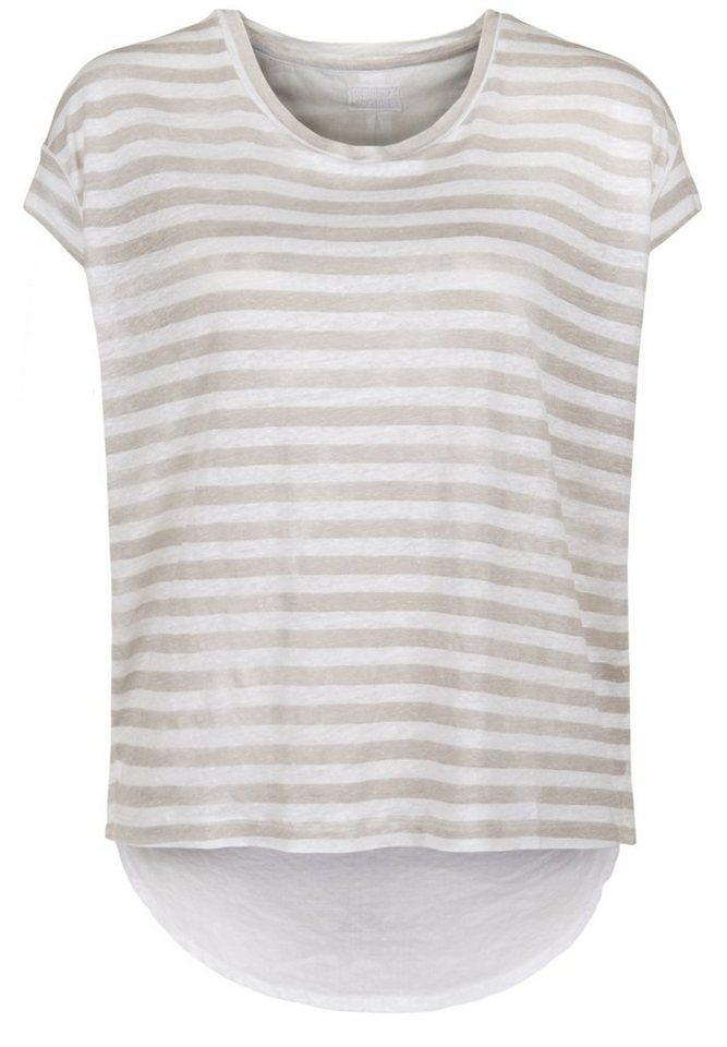 Blaumax Shirt »BERLIN STRIPE LINEN« in beige stripe