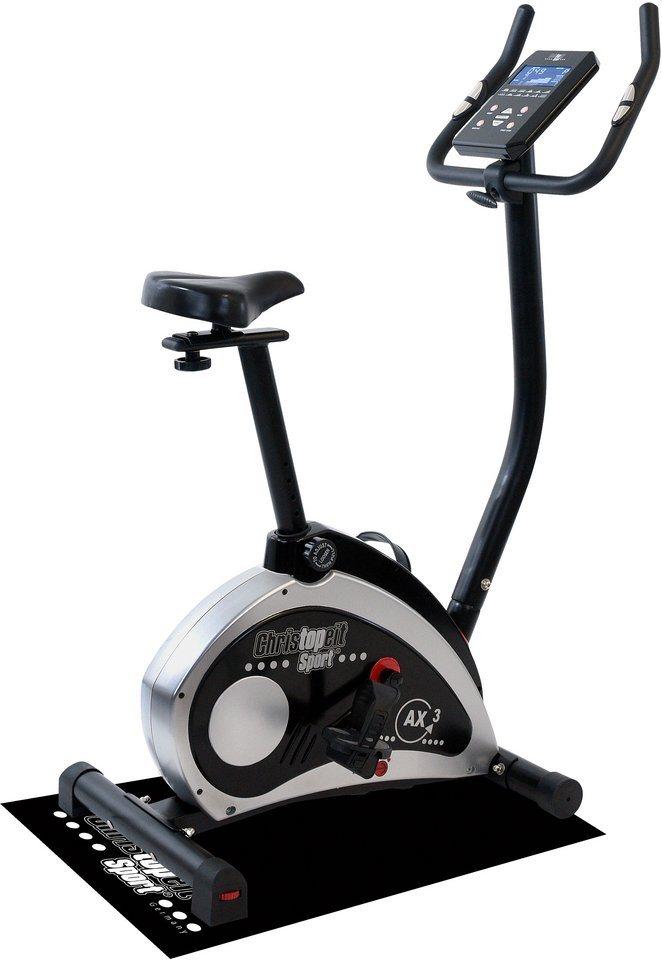 Christopeit Sport® Heimtrainer Ergometer inkl. Unterlegmatte, »AX 3«