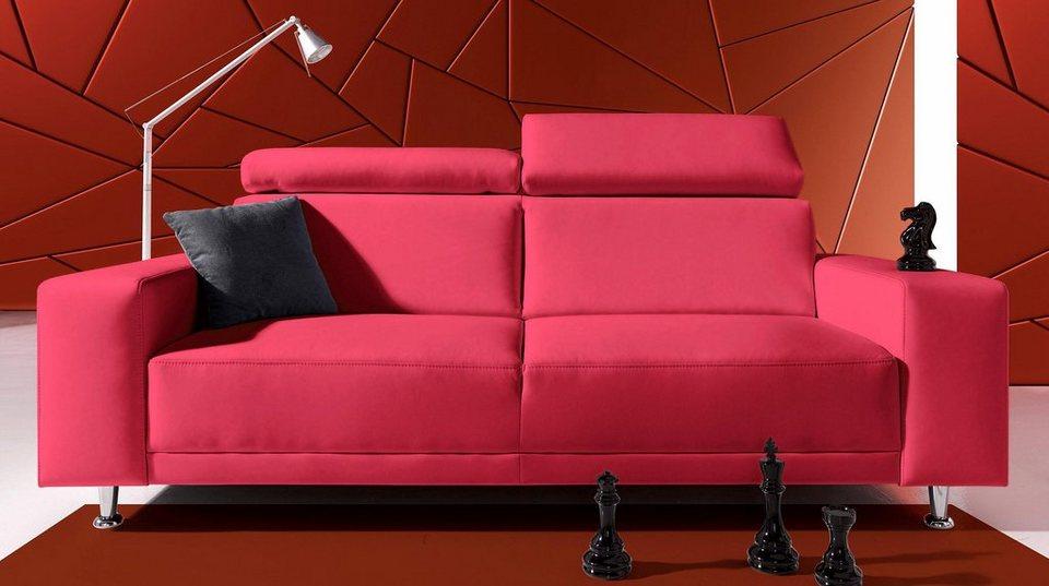 inosign 3 sitzer mit verstellbarem kopfteil otto. Black Bedroom Furniture Sets. Home Design Ideas