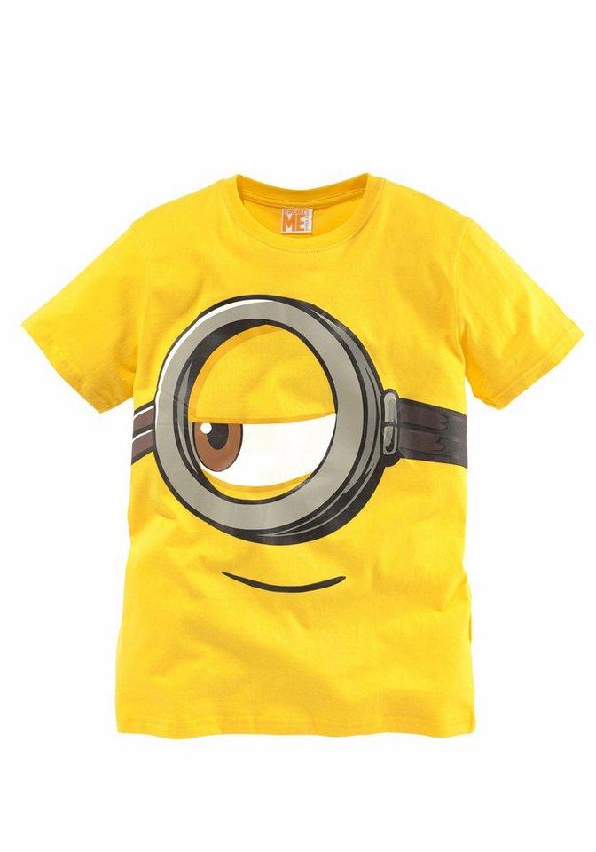 Minions T-Shirt Mit Minions Druck vorn in gelb
