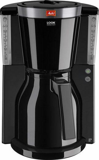 Melitta Filterkaffeemaschine Look® Therm Selection 1011-12, 1,1l Kaffeekanne, Papierfilter 1x4, Thermokanne mit Einhandbedienung