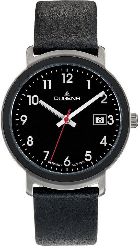 Dugena Quarzuhr »4460671« in schwarz