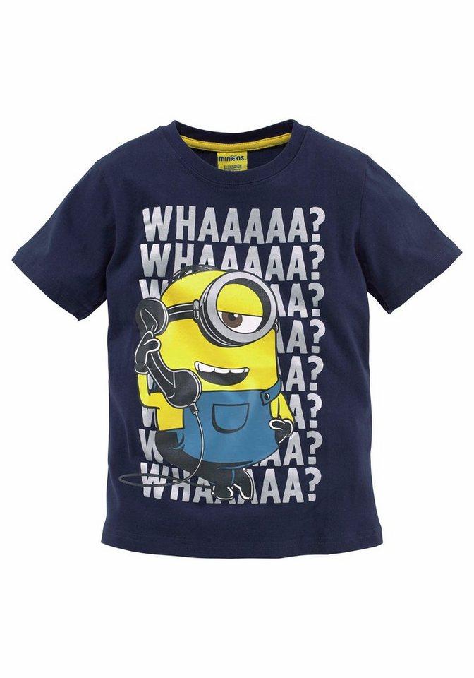 Minions T-Shirt Mit Minions Druck vorn in marine