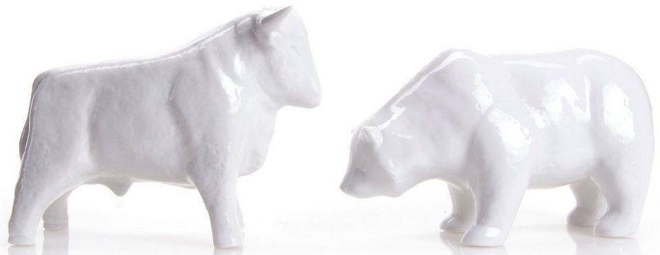 W&A Figur »Bulle und Bär« aus Porzellan (2er-Set) in weiß