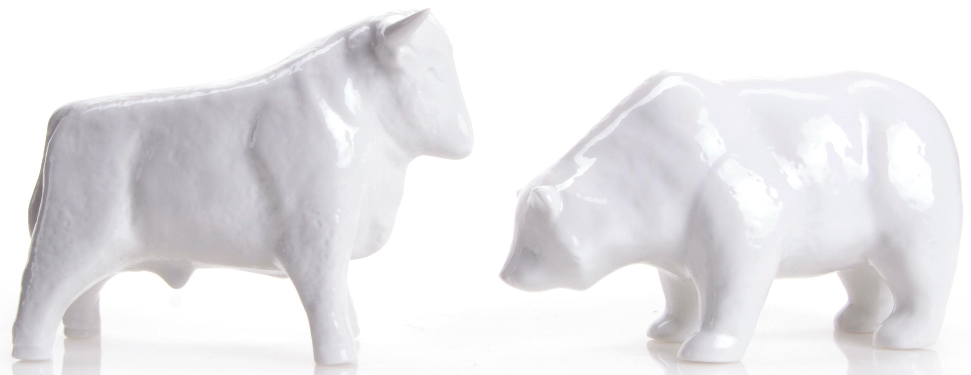 W&A Figur »Bulle und Bär« aus Porzellan (2er-Set)