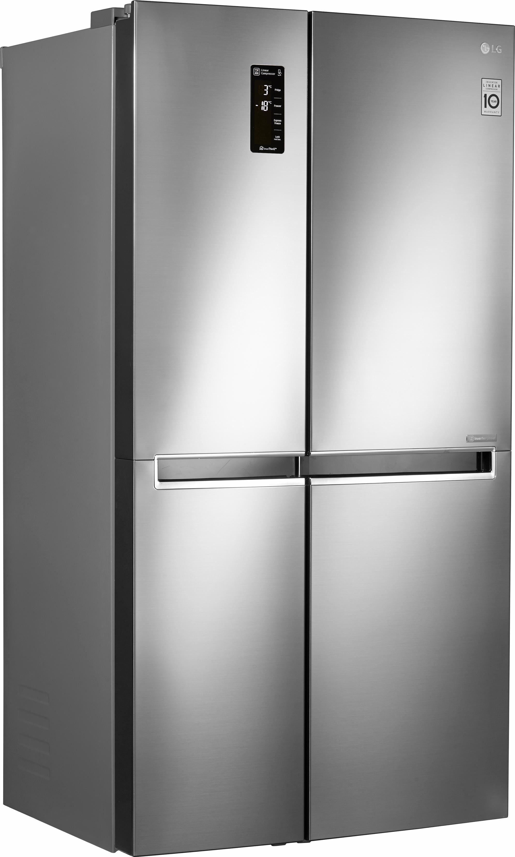 LG Side-by-Side GSB760PZXZ, 179 cm hoch, 91,2 cm breit