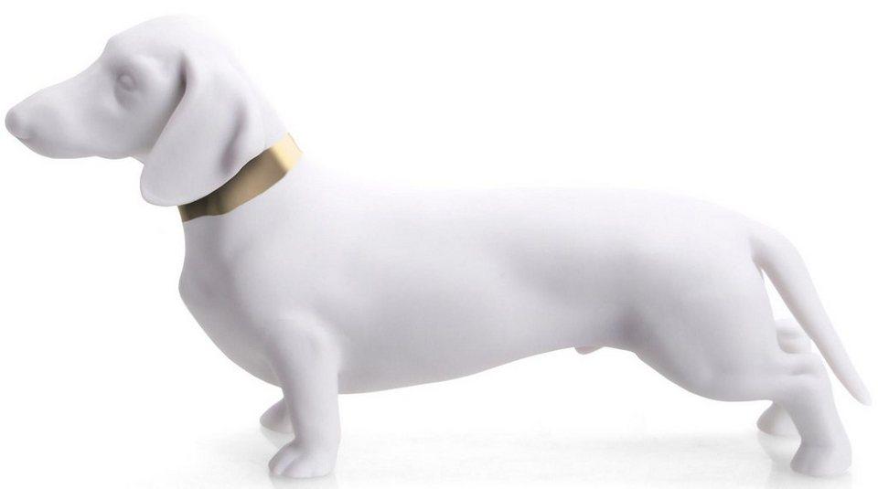 W&A Figur »Dackel« aus Porzellan in weiß/gold