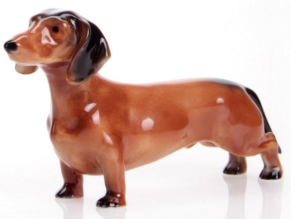 W&A Figur »Dackel« aus Porzellan in braun