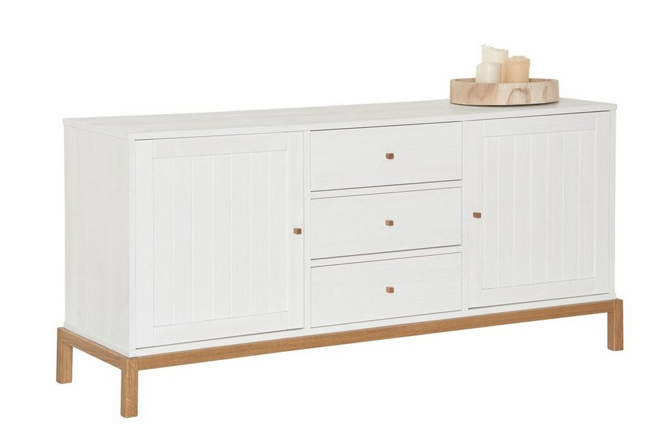 andas Sideboard »Rely«, Breite 160 cm in weiß/natur