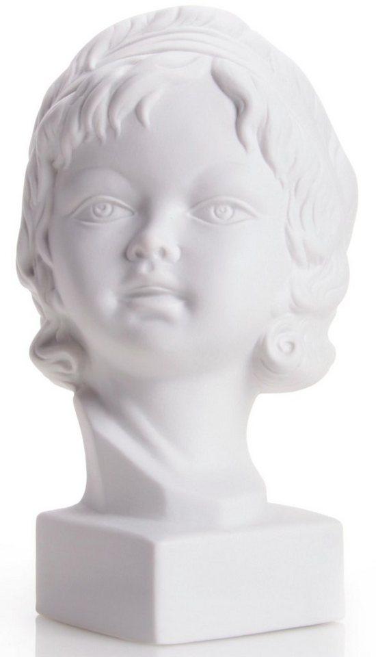 W&A Skulptur »Mädchenkopf« aus Porzellan in weiß