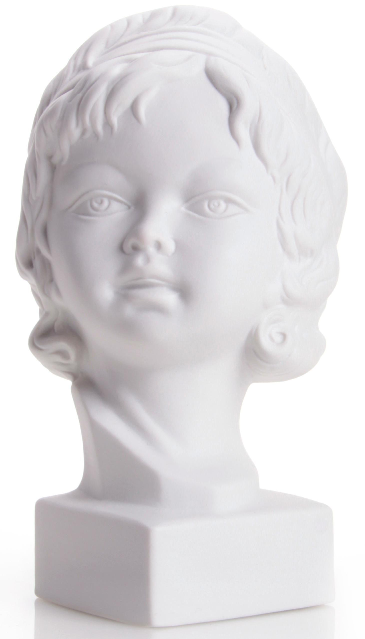 W&A Skulptur »Mädchenkopf« aus Porzellan