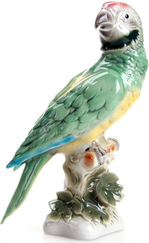 W&A Figur »Papagei« aus Porzellan in grün