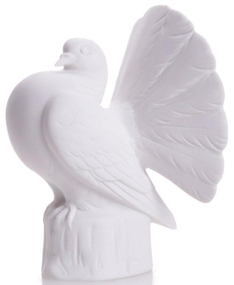 W&A Figur »Pfauen-Taube« aus Porzellan in weiß