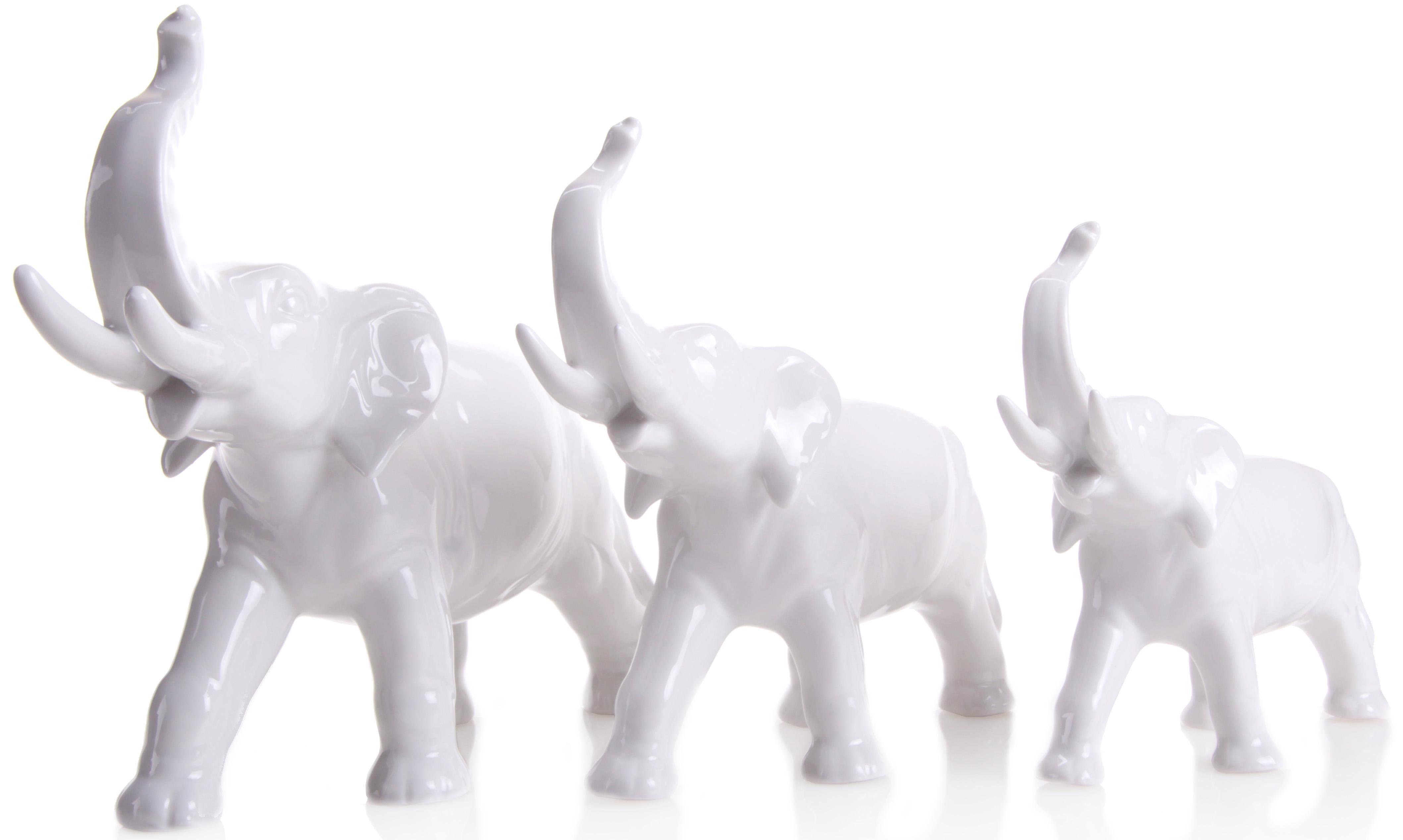 W&A Figur »Elefanten« aus Porzellan (3er-Set)