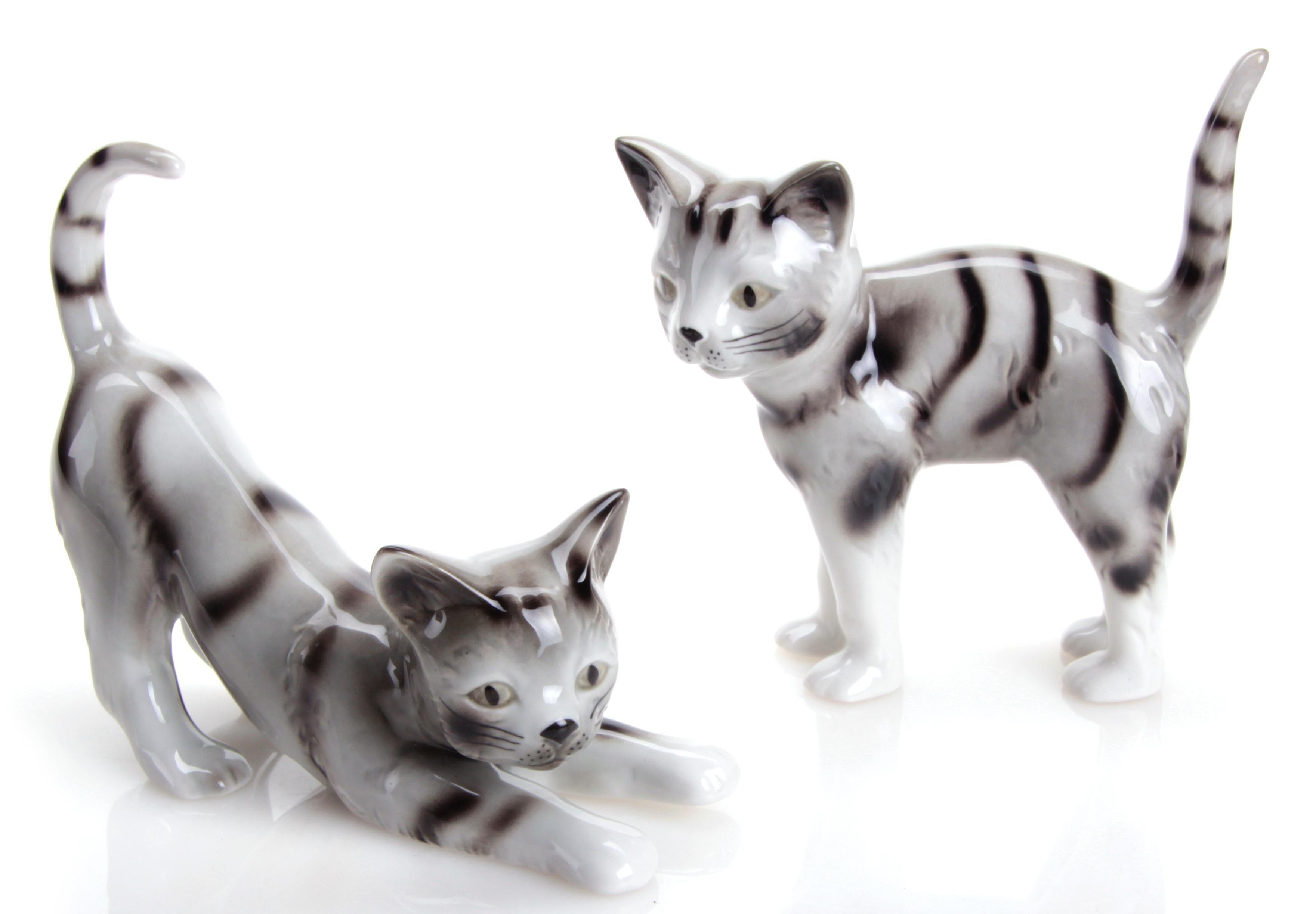 W&A Figur »Katzen« aus Porzellan (2er-Set)