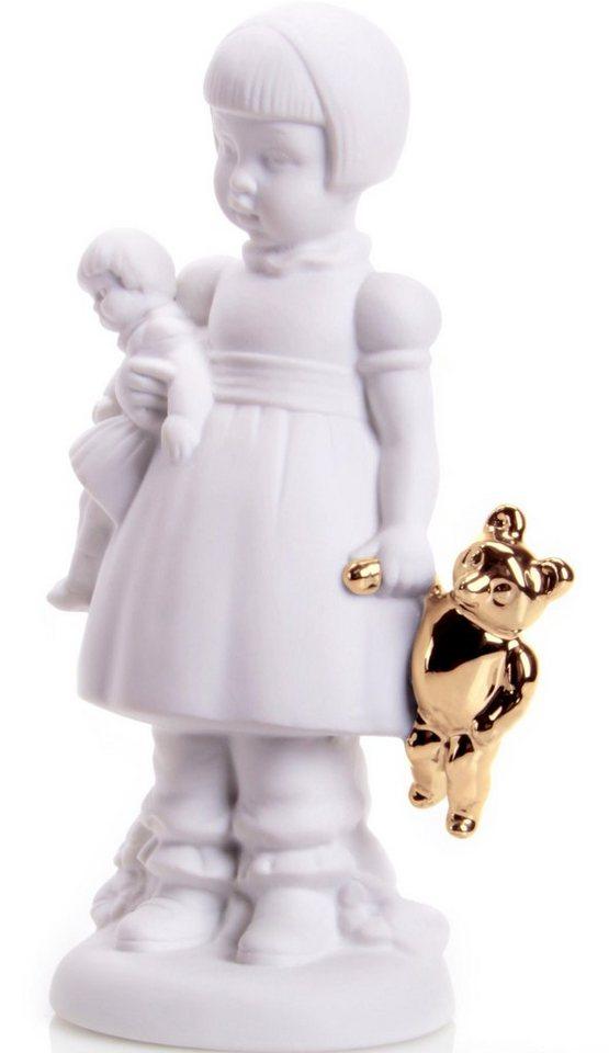 W&A Figur »Mädchen Amelie« aus Porzellan in weiß/gold