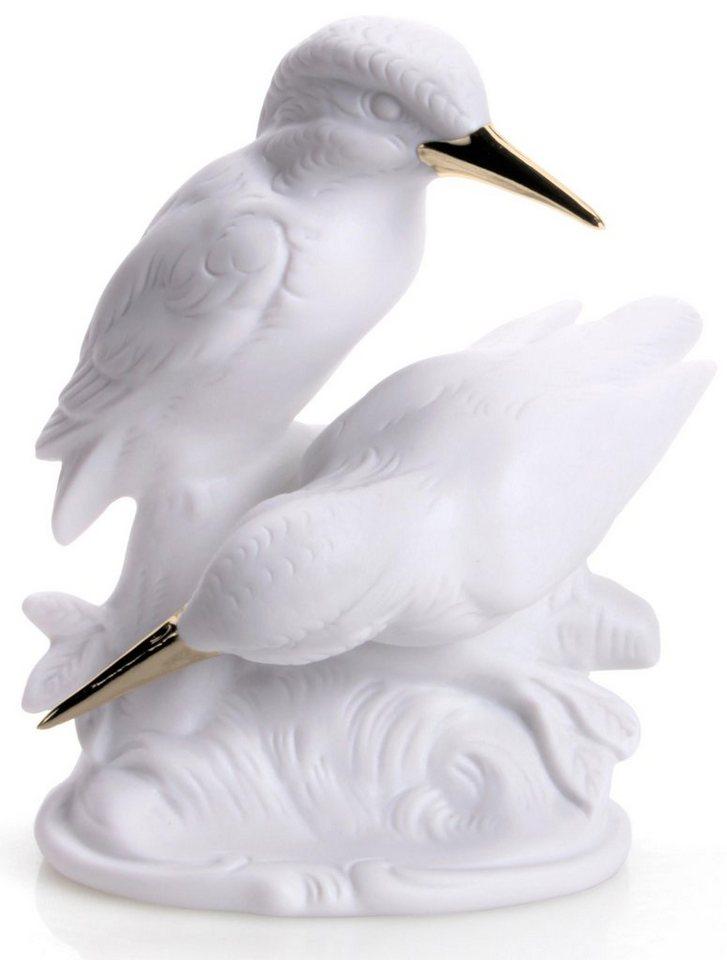 W&A Figur »Eisvogelgruppe« aus Porzellan in weiß/gold